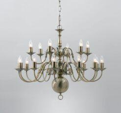 Impex BF00350/12+6/AB- Flemish 18 light Statement, Antique Brass