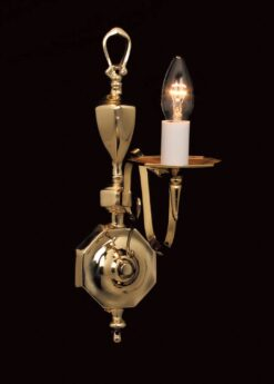 Impex BF19180/01/WB Ghent 1 light Wall Light, Polished Brass