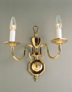 Impex BF19180/02/WB Ghent 2 light Wall Light, Polished Brass