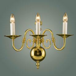 Impex BF19312/03/WB Antwerp 3 light Wall Light, Polished Brass