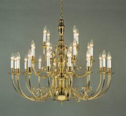 Impex BF19700/28 Beveren 28 light Statement, Polished Brass