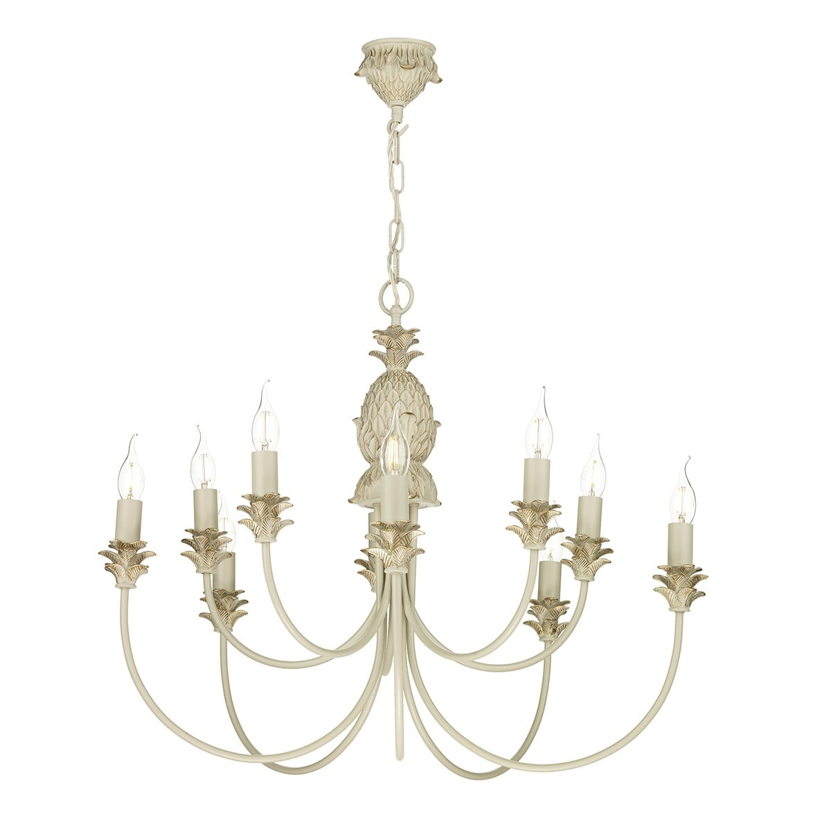 David Hunt Lighting CAB2312 Cabana 10 light pendant, Cream|Gold