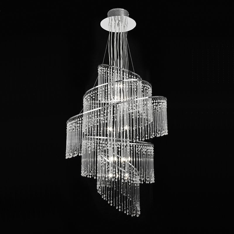 Endon CAMILLE-24CH Camille 24lt pendant 10W, Clear glass & chrome effect plate