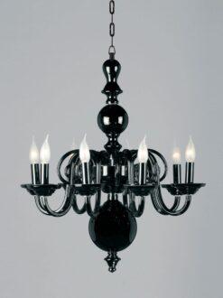 Impex CB05519/08/BLK Salas 8 light Pendant, Black