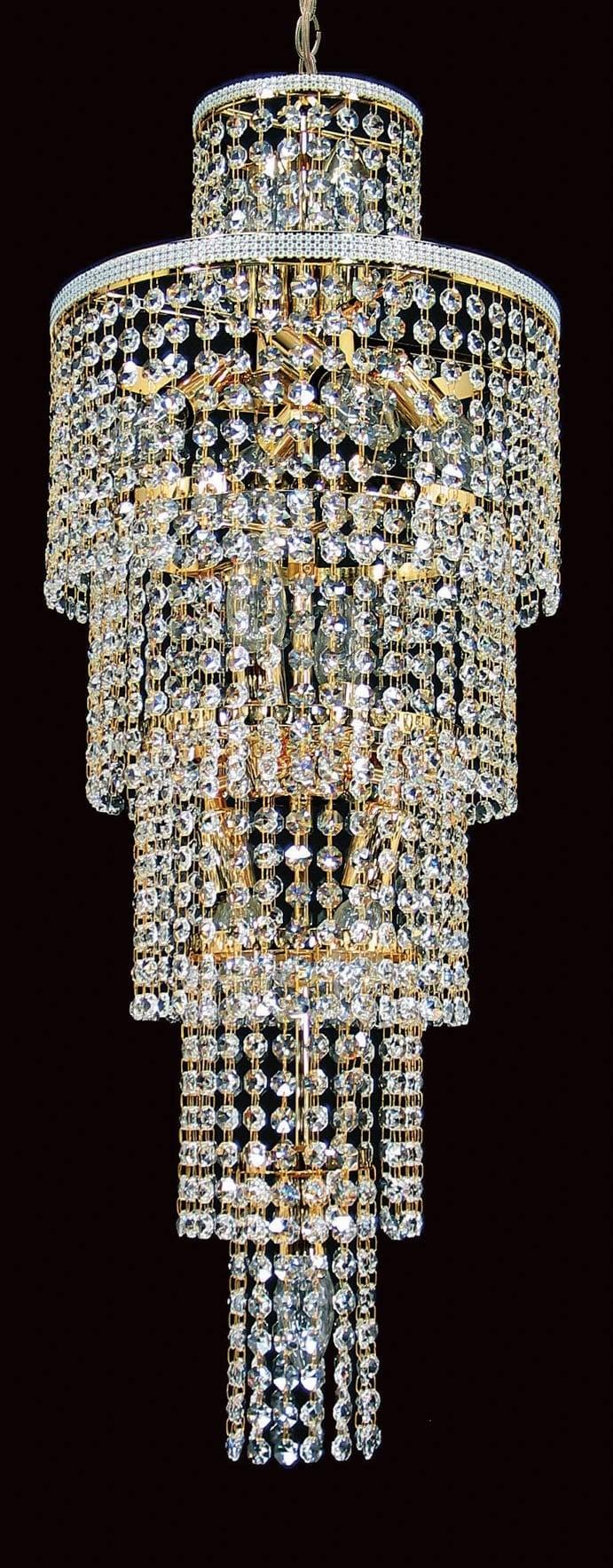 Impex CE00055/11/G Trento 11 light Pendant, Gold
