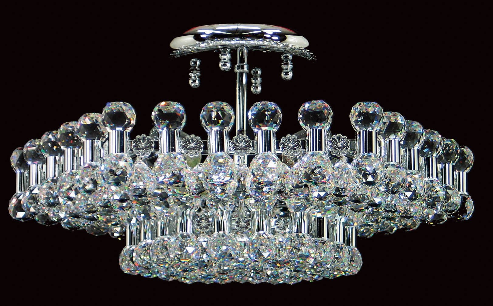 Impex CE01007/06/CH Ancona 6 light Low Ceiling Fitting, Chrome