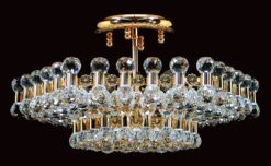 Impex CE01007/06/G Ancona 6 light Low Ceiling Fitting, Gold
