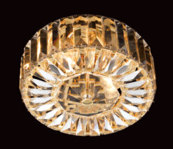 Impex CE09117/02/G Seville 2 light Low Ceiling Fitting, Gold