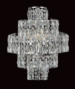 Impex CF03220/WB/CH NewYork 3 light Wall Light, Chrome