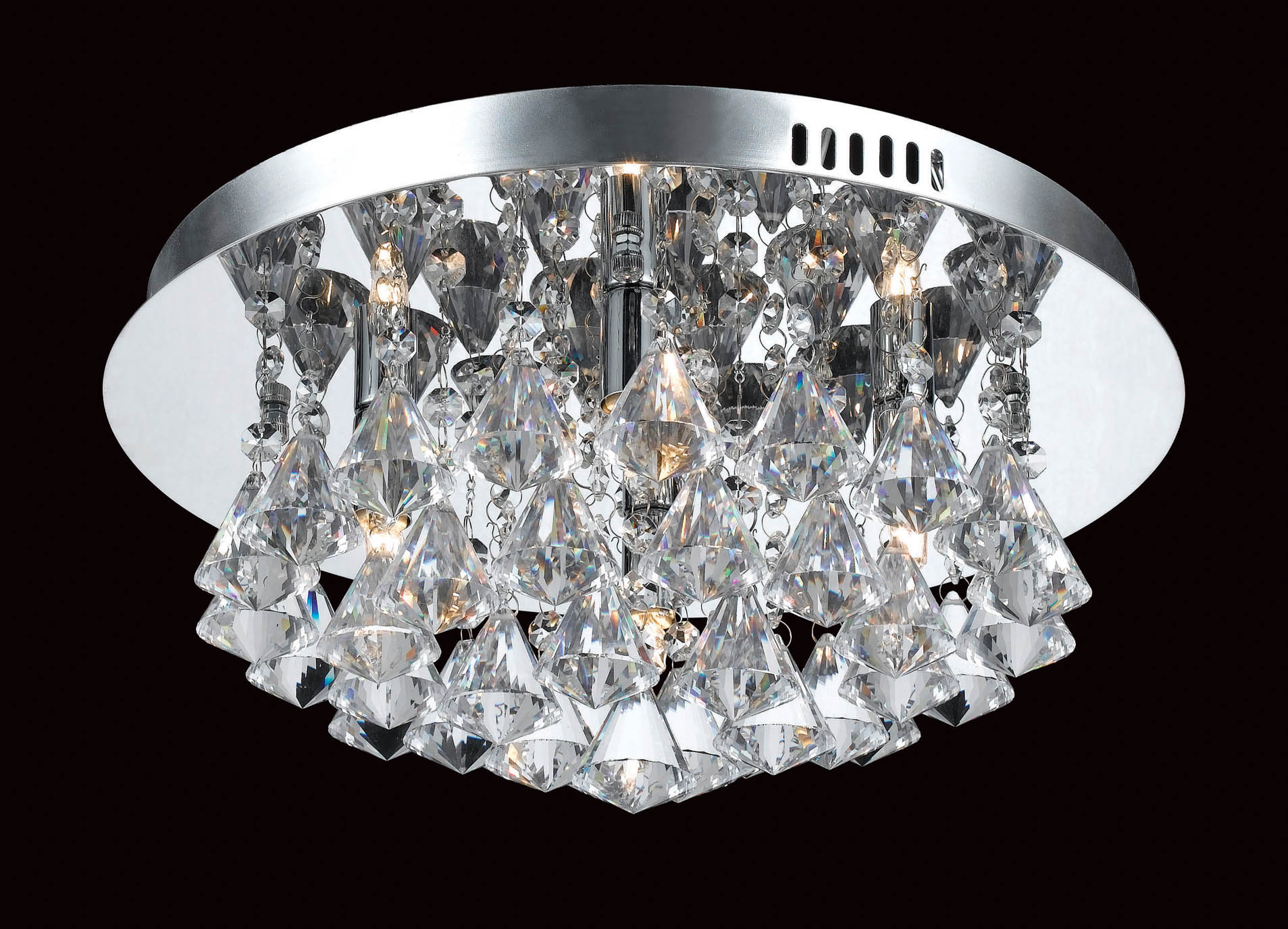 Impex CFH011025/04/CH Parma 4 light Low Ceiling Fitting, Chrome