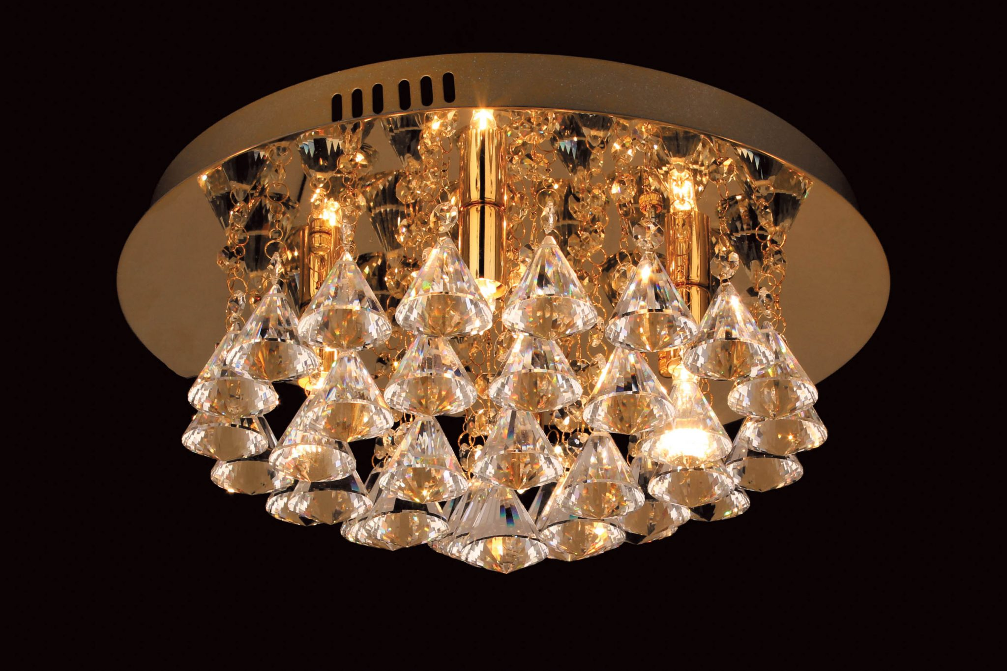 Impex CFH011025/04/G Parma 4 light Low Ceiling Fitting, Gold