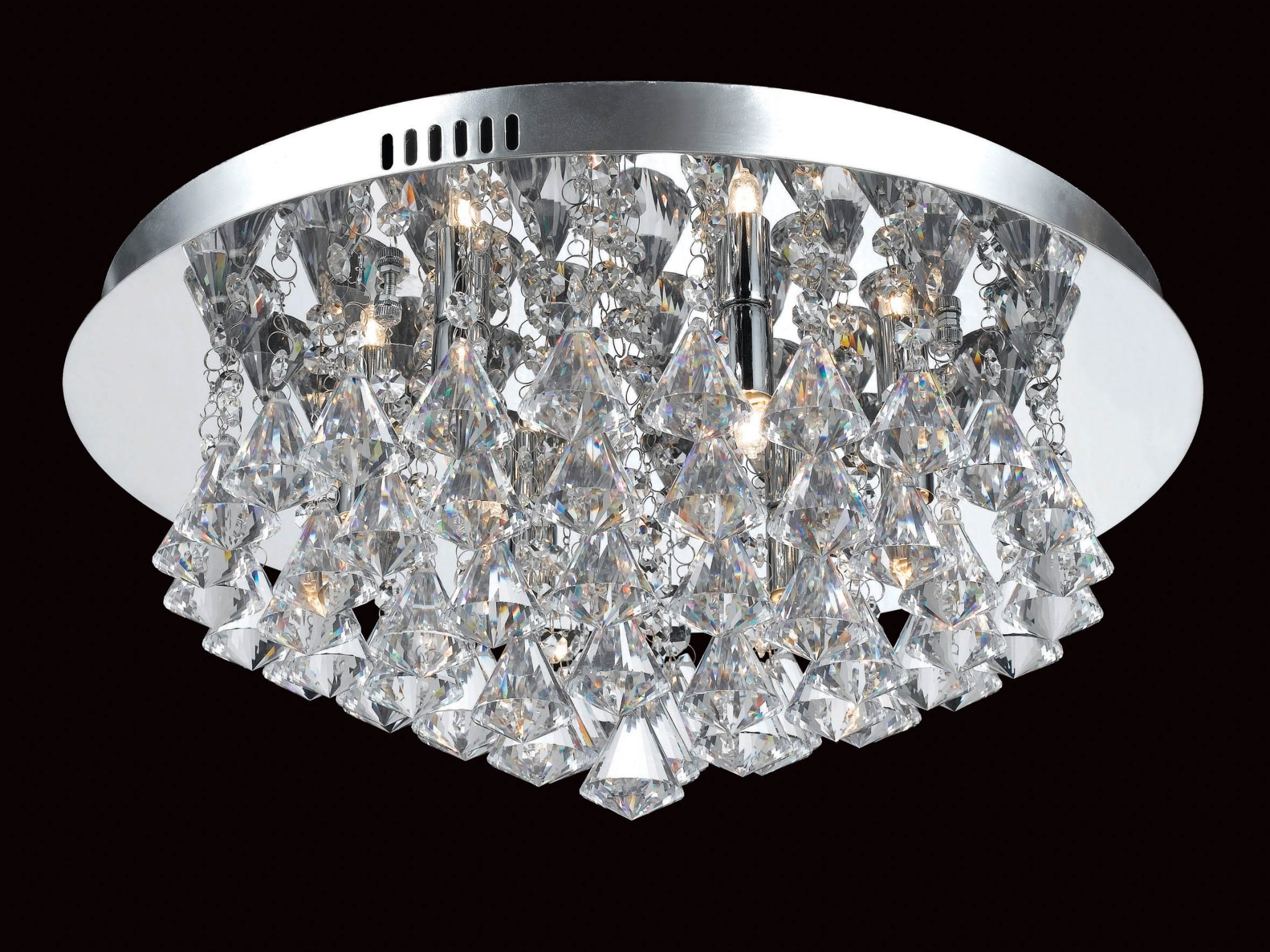 Impex CFH011025/06/CH Parma 6 light Low Ceiling Fitting, Chrome