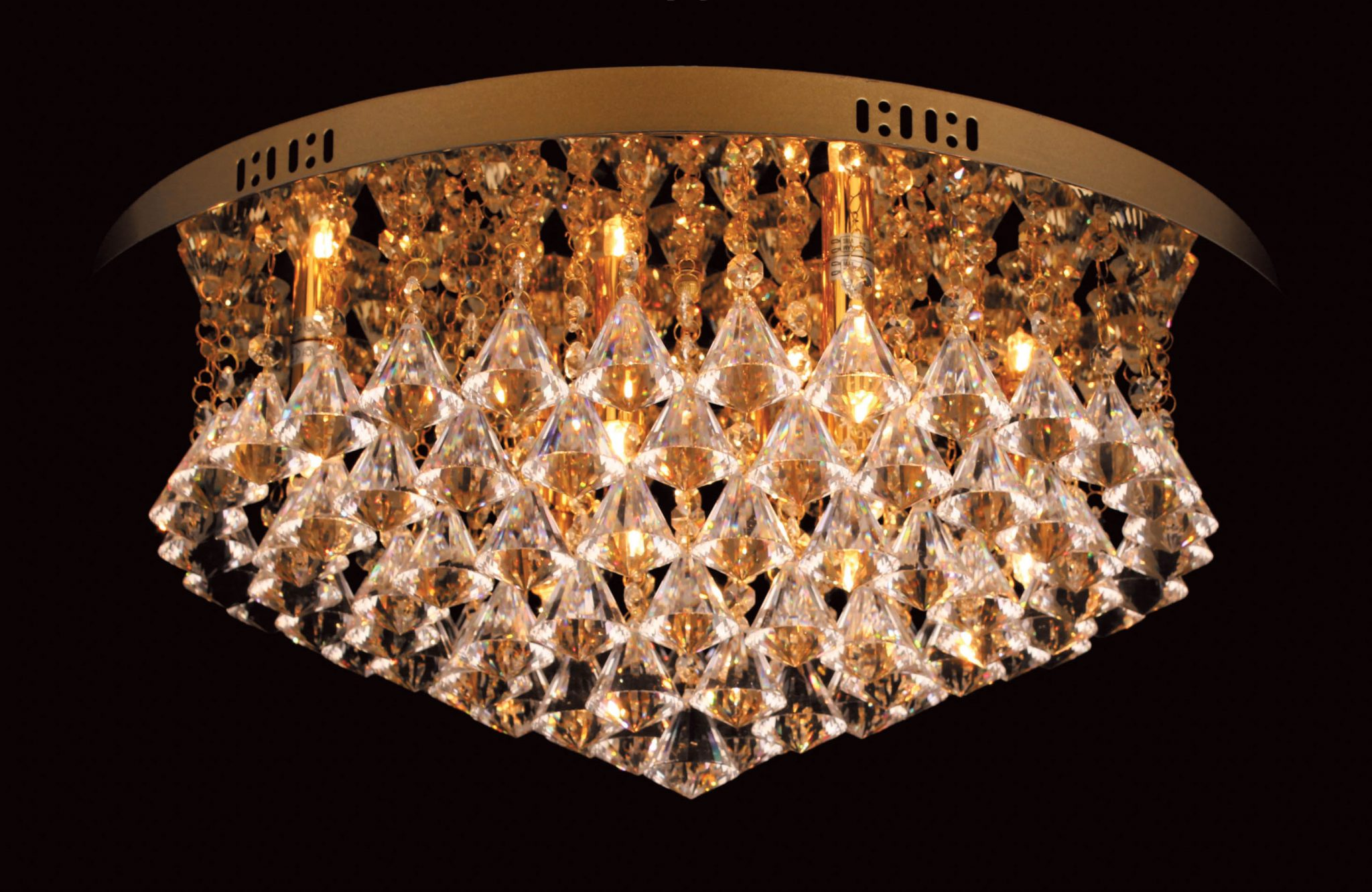 Impex CFH011025/06/G Parma 6 light Low Ceiling Fitting, Gold
