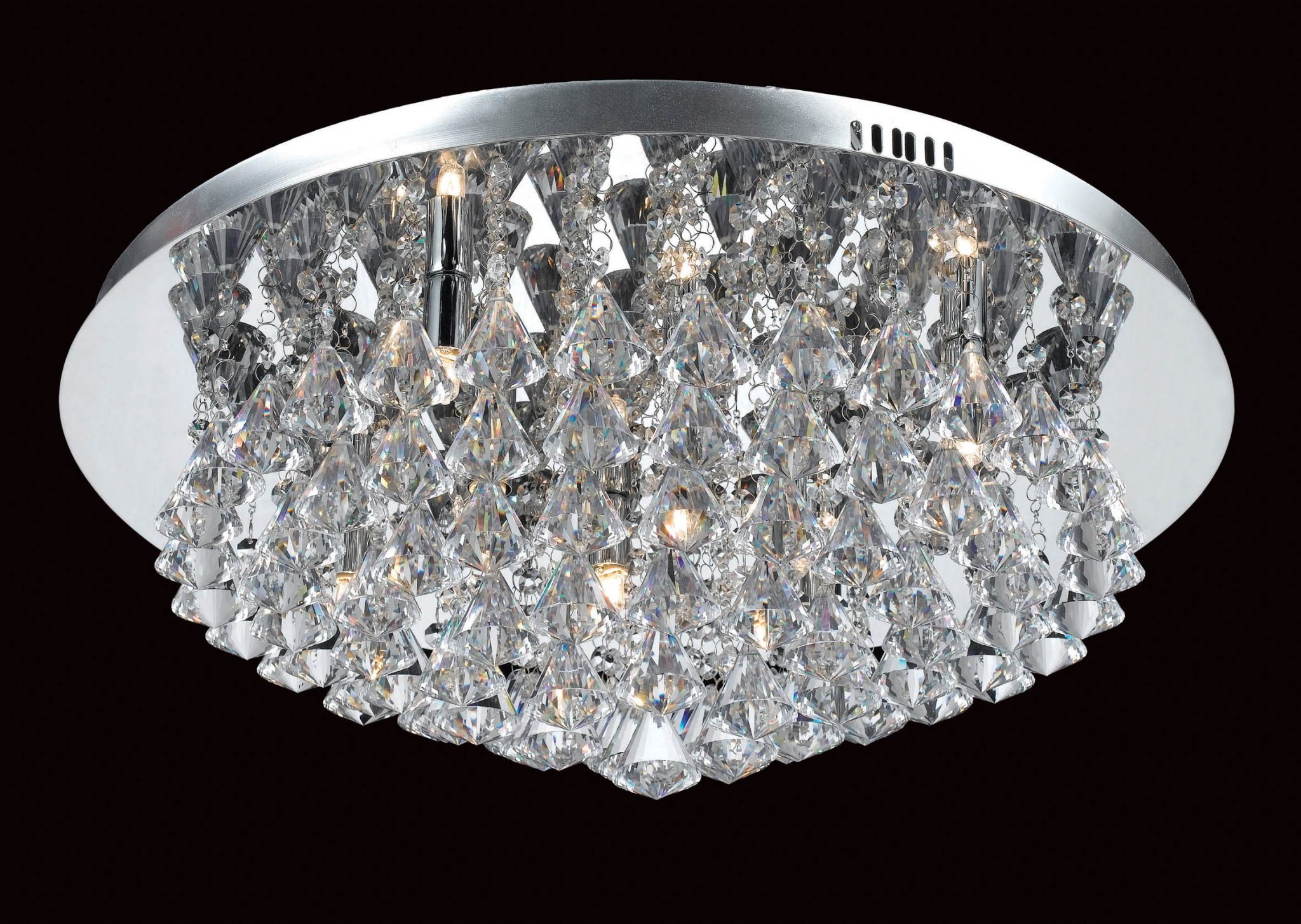 Impex CFH011025/08/CH Parma 8 light Low Ceiling Fitting, Chrome