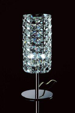 Impex CFH211151/TL/CLR/CH Veta 1 light Table Lamp, Chrome
