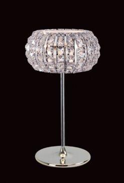 Impex CFH905262/TL/CH Rome 3 light Table Lamp, Chrome