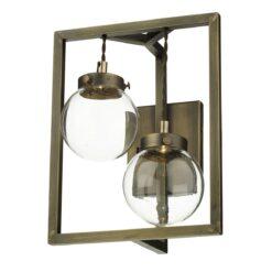 David Hunt Lighting CHI0975 Chiswick 2 light wall light, Antique Brass