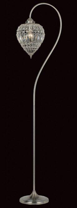 Impex CO01219/FL Bombay 1 light Floor Lamp, Satine Nickel