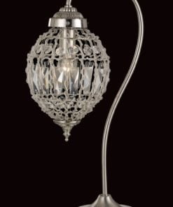 Impex CO01219/TL Bombay 1 light Table Lamp, Satine Nickel
