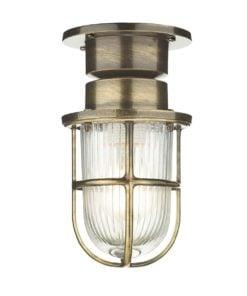 David Hunt Lighting COA0175 Coast 1 light wall light, Antique Brass