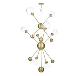 David Hunt Lighting COS0840- Cosmos 8lt Single Pendant, Brass