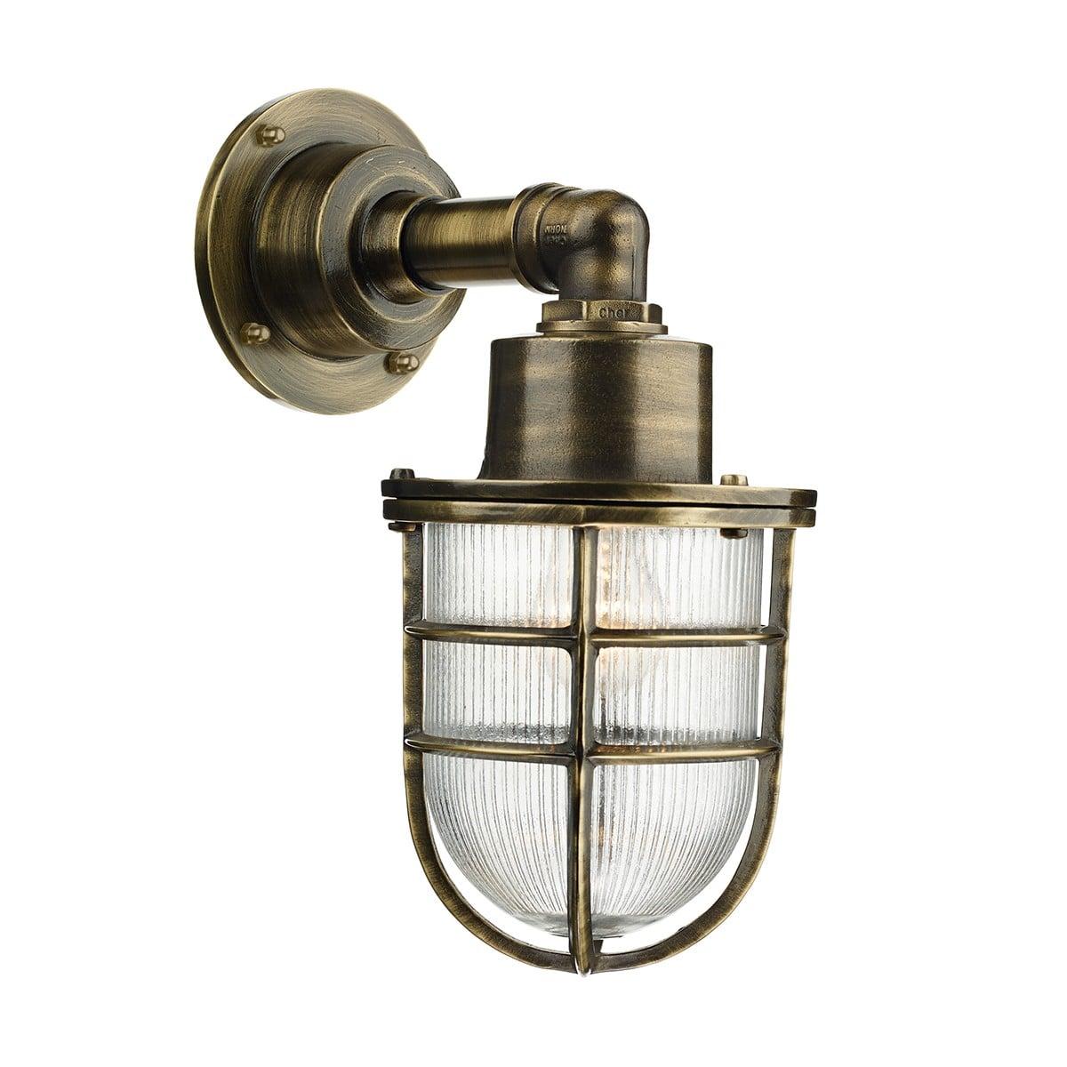 David Hunt Lighting CRE1575 Crewe 1 light wall light, Antique Brass