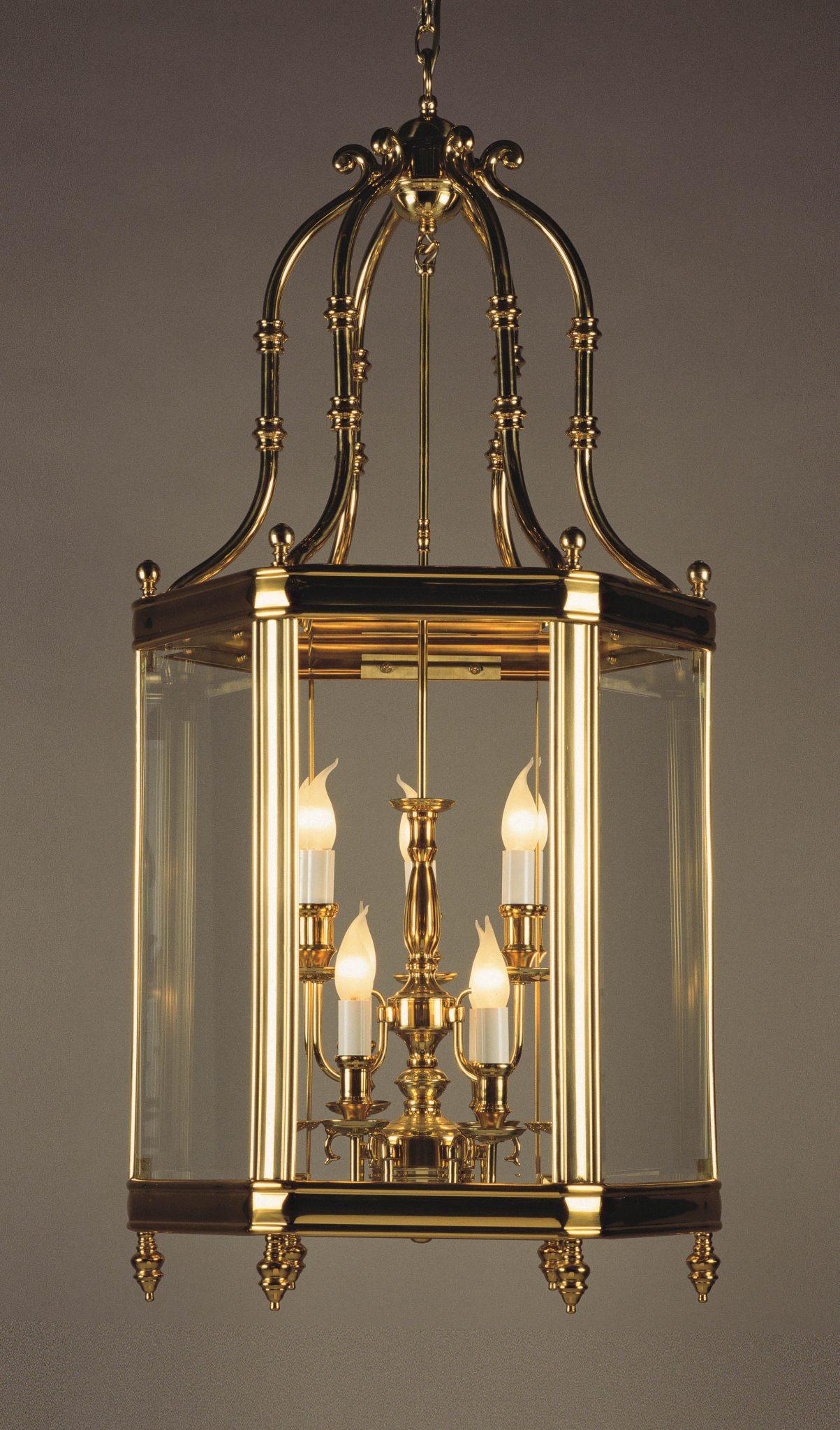 Impex LG00024/09/PB Regal 9 light Lantern, Polished Brass