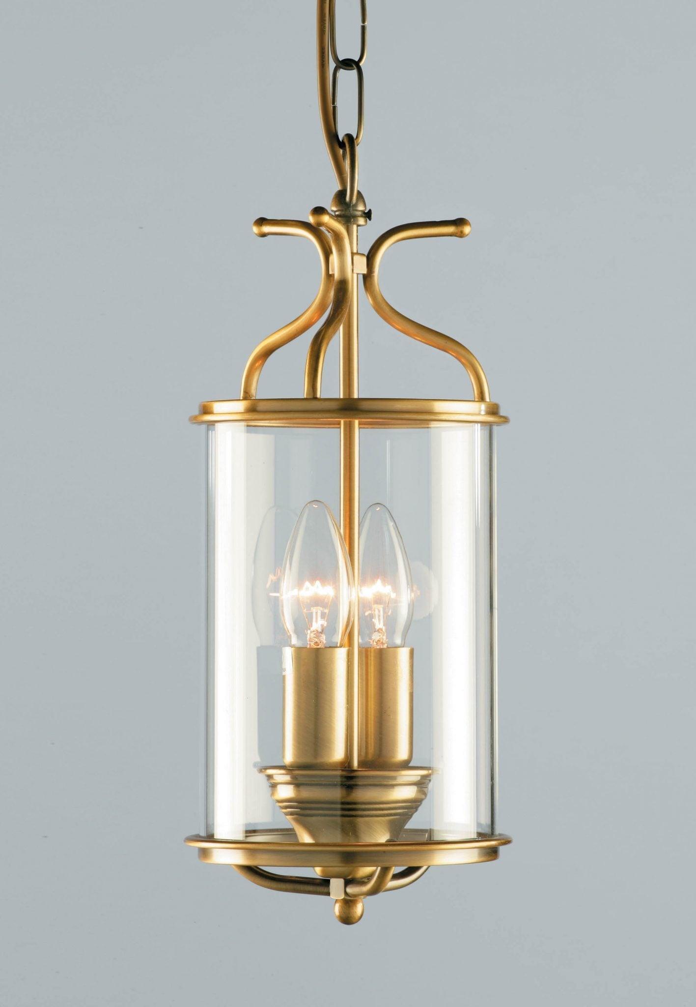Impex LG00029/AB Winchester 2 light Lantern, Antique Brass