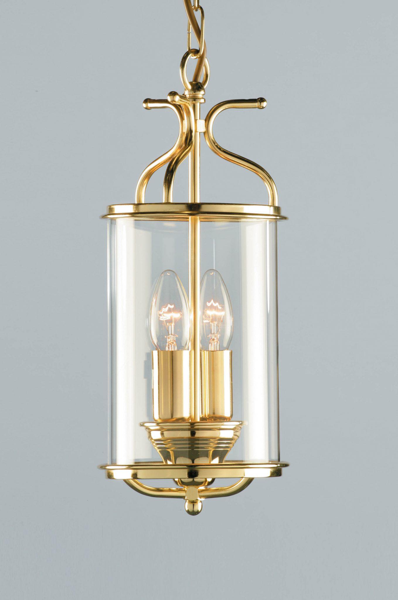Impex LG00029/PB Winchester 2 light Lantern, Polished Brass