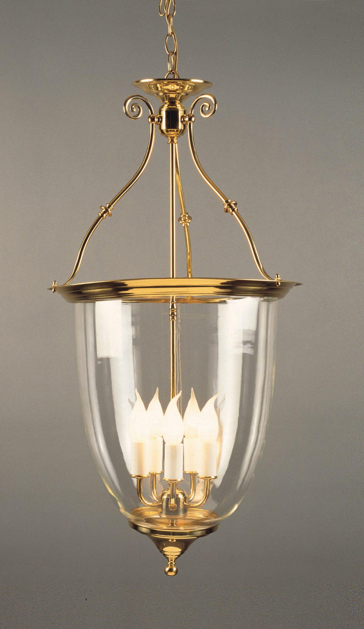 Impex LG01765/AM VigoLantern 5 light Lantern, Polished Brass