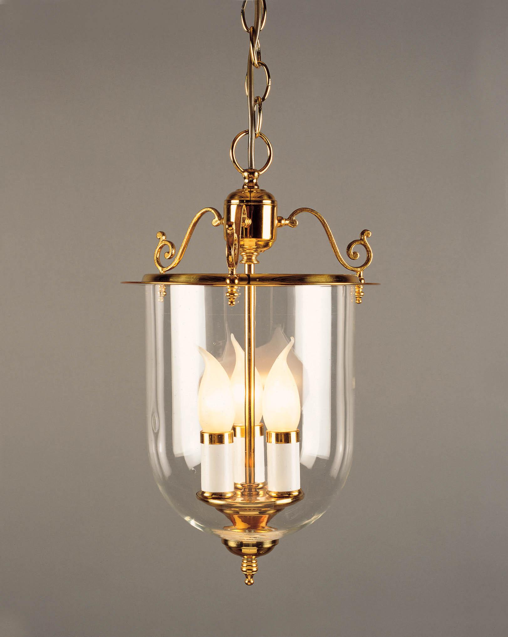 Impex LG07001/8.5 Granada 3 light Lantern, Polished Brass