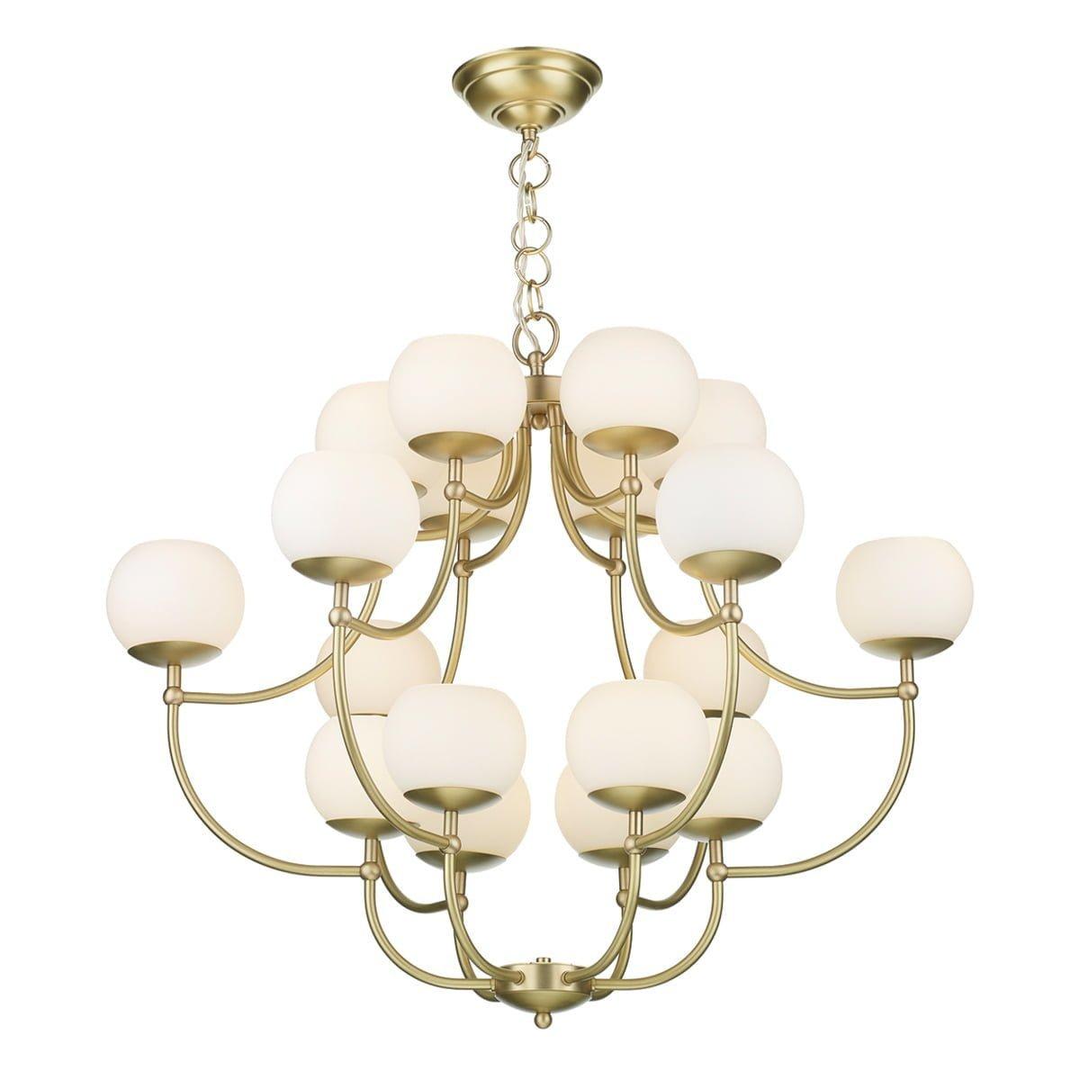 David Hunt Lighting OPE1840- Opera 18lt Multi Arm Pendant, Brushed Brass