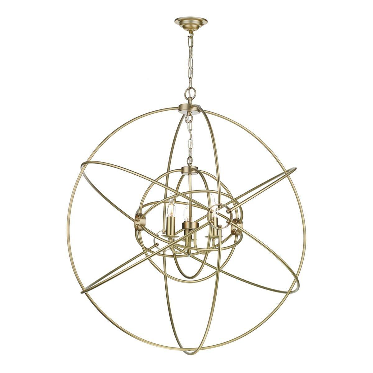 David Hunt Lighting ORB8840- Orb 3lt Single Pendant, Brushed Brass