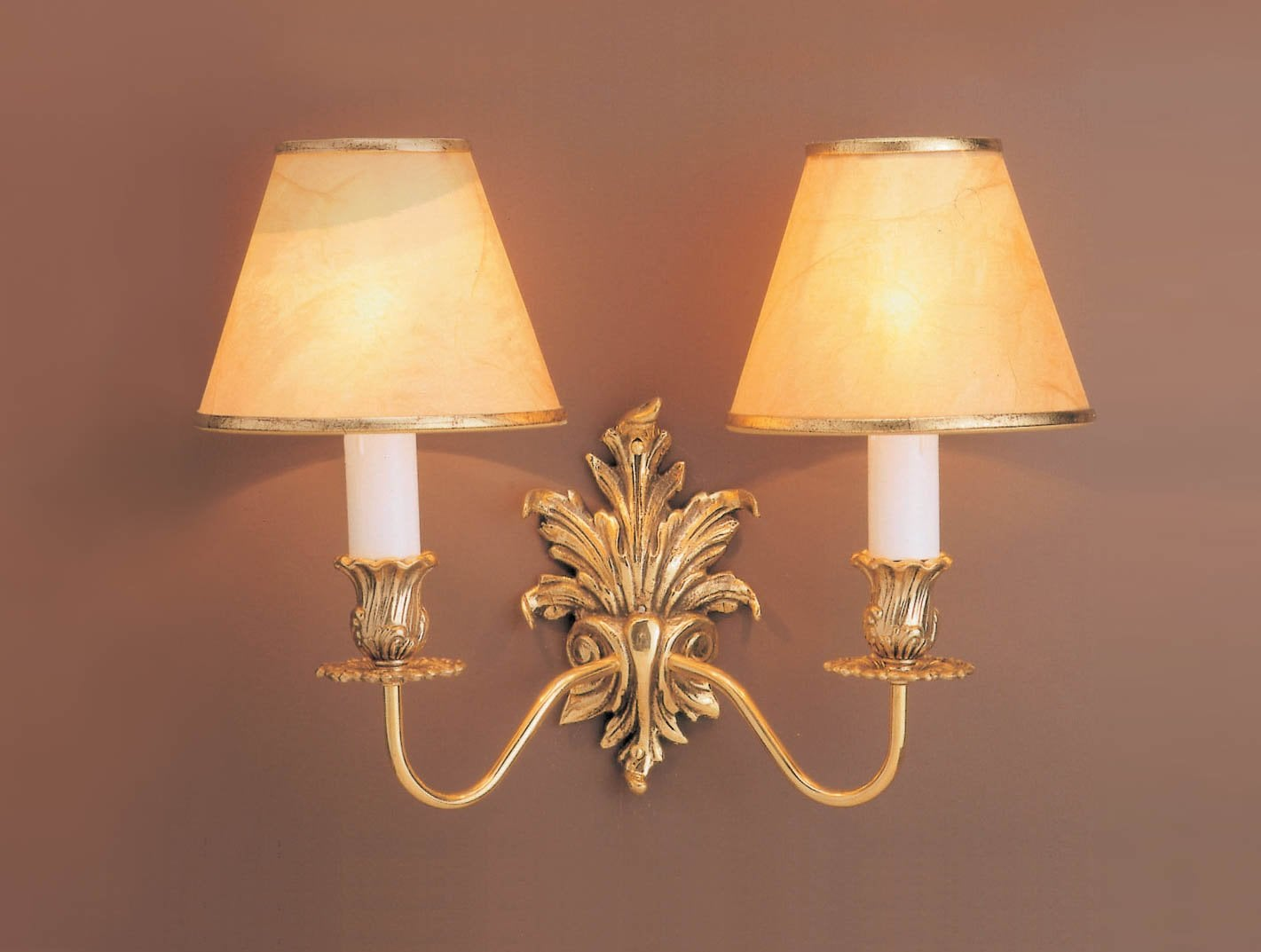 Impex SMBB00182/PB Dauphine 2 light Wall Light, Polished Brass fitting only