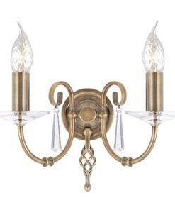 Elstead AG2AGEDBRASS Aegean 2lt Wall Light Aged Brass