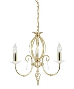 Elstead AG3POLBRASS Aegean 3lt Chandelier Polished Brass