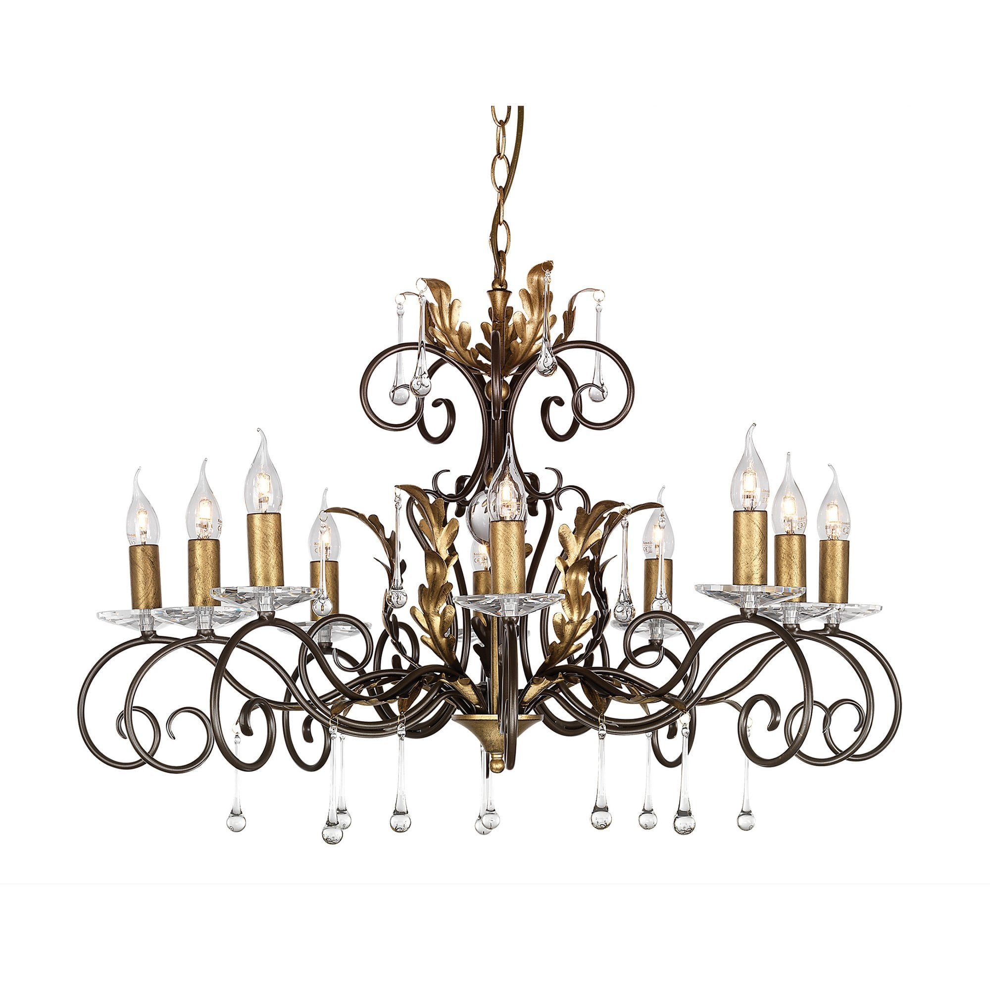 Elstead AML10BRONZE Amarilli 10lt Chandelier Bronze/Gold