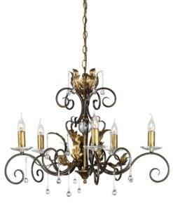 Elstead AML5BRONZE Amarilli 5lt Chandelier Bronze/Gold