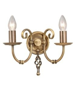 Elstead ART2AGDBRASS Artisan 2lt Wall Light Aged Brass