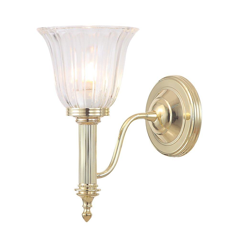 Elstead BATH/CARROLL1PB Bathroom Carroll1 Polished Brass