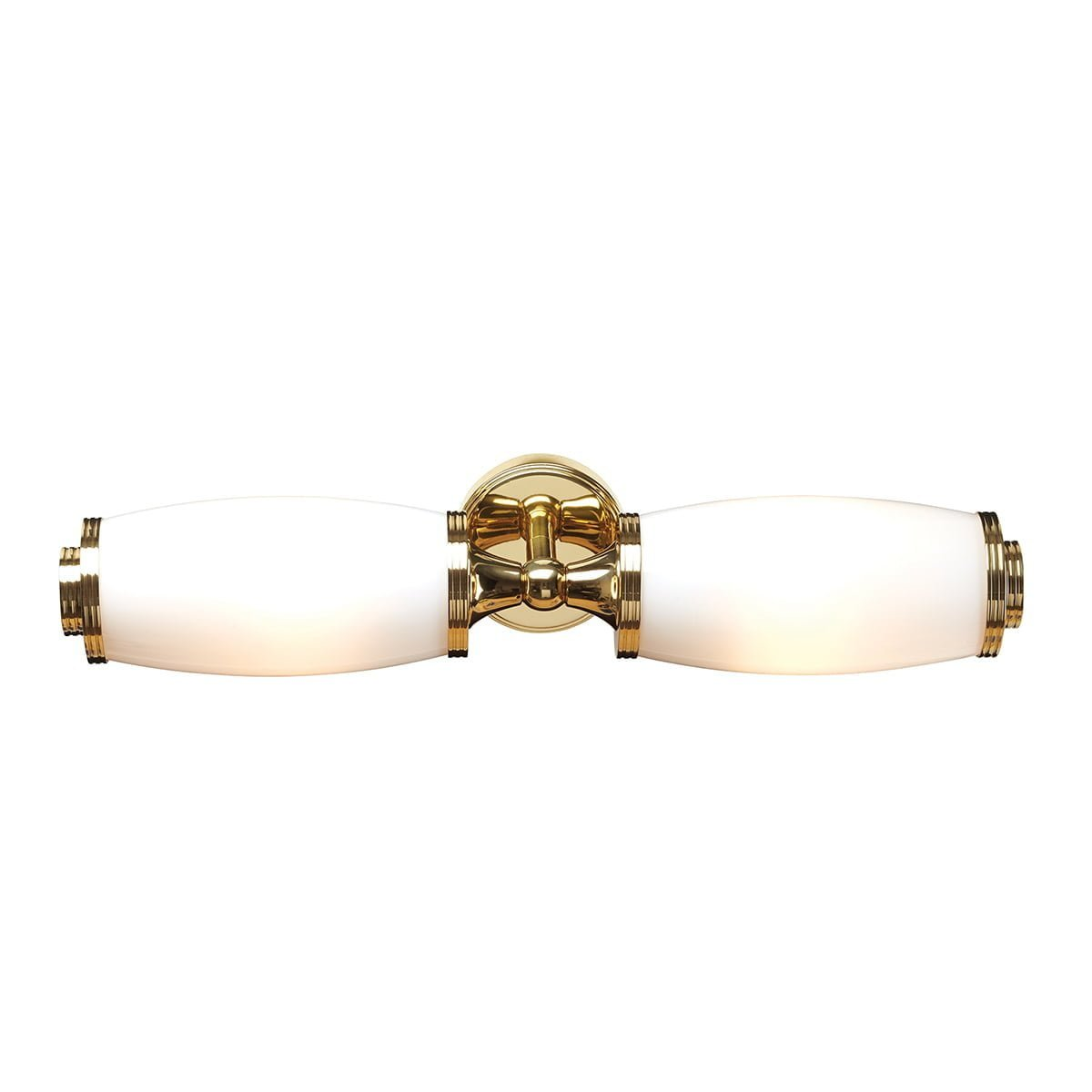 Elstead BATH/ELIOT2PB Bathroom Eliot Twin Wall Light Polished Brass