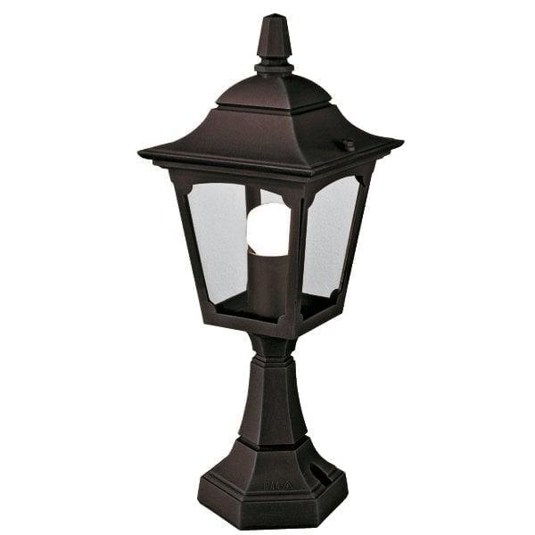 Elstead CPM4BLACK Chapel Mini Pedestal Lantern Black