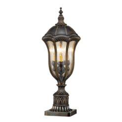 Elstead FE/BATONRG3 Baton Rouge Pedestal Lantern