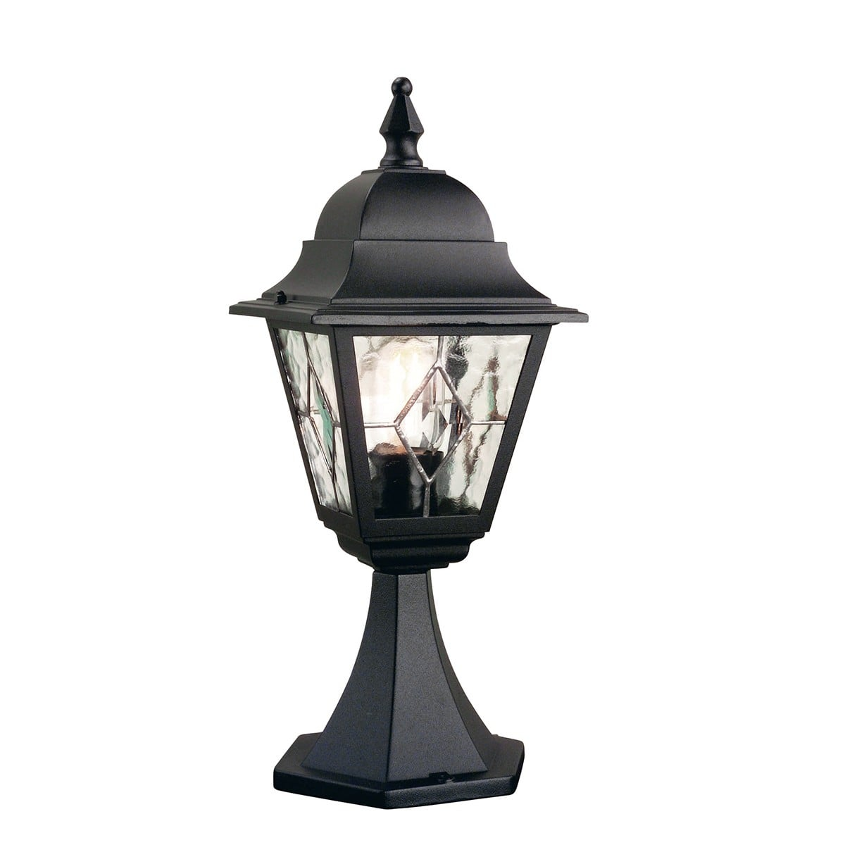 Elstead NR3BLK Norfolk Pedestal Lantern