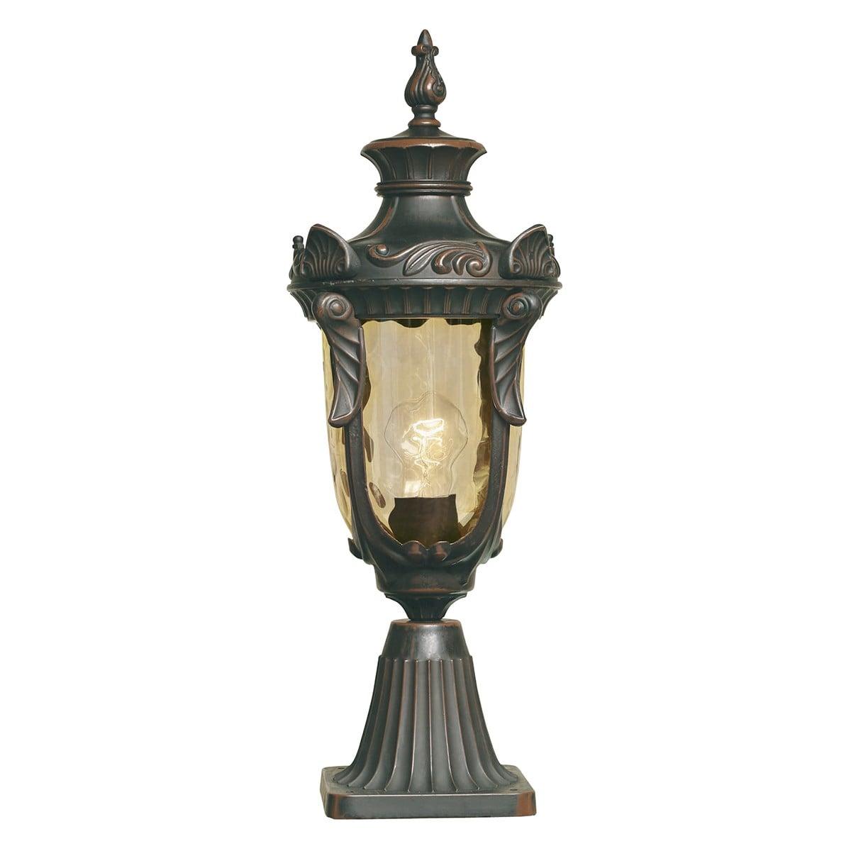 Elstead PH3/MOB Philadelphia Pedestal Lantern Medium