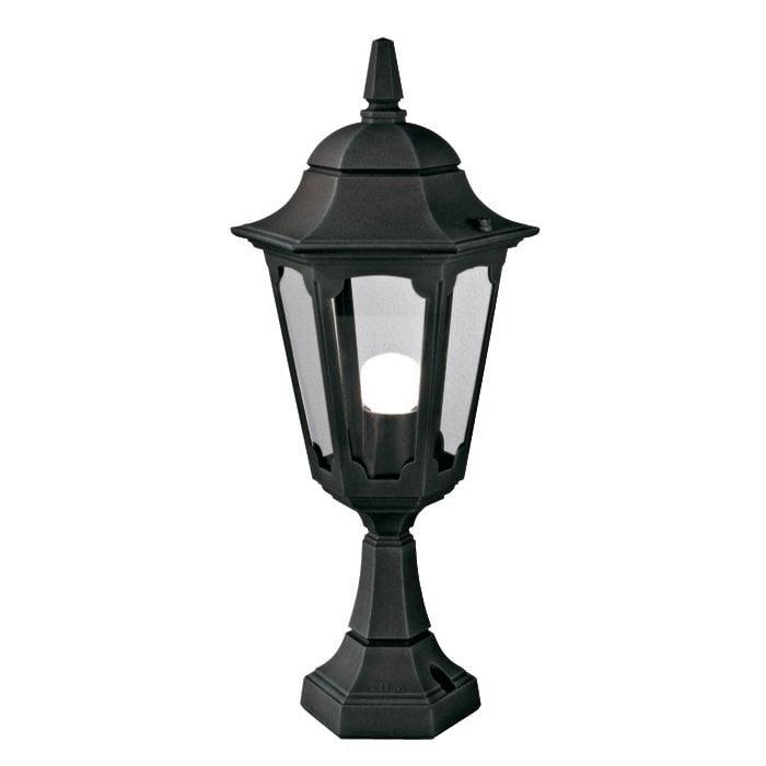 Elstead PR4BLACK Parish Pedestal Lantern Black