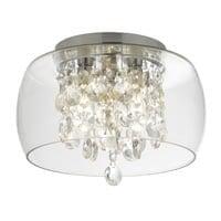 Searchlight 1773CC- Bathroom 3lt Flush, Clear Glass