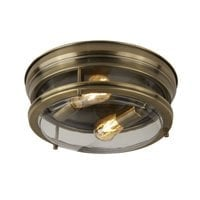 Searchlight 5182AB- Edinburgh 2lt Semi Flush, Antique Brass