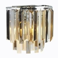 Searchlight 9832-2CC- Clarissa 2lt Wall Light, Crystal