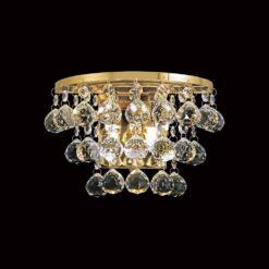 Diyas IL30214- Atla 2lt Wall Light, French Gold Clear